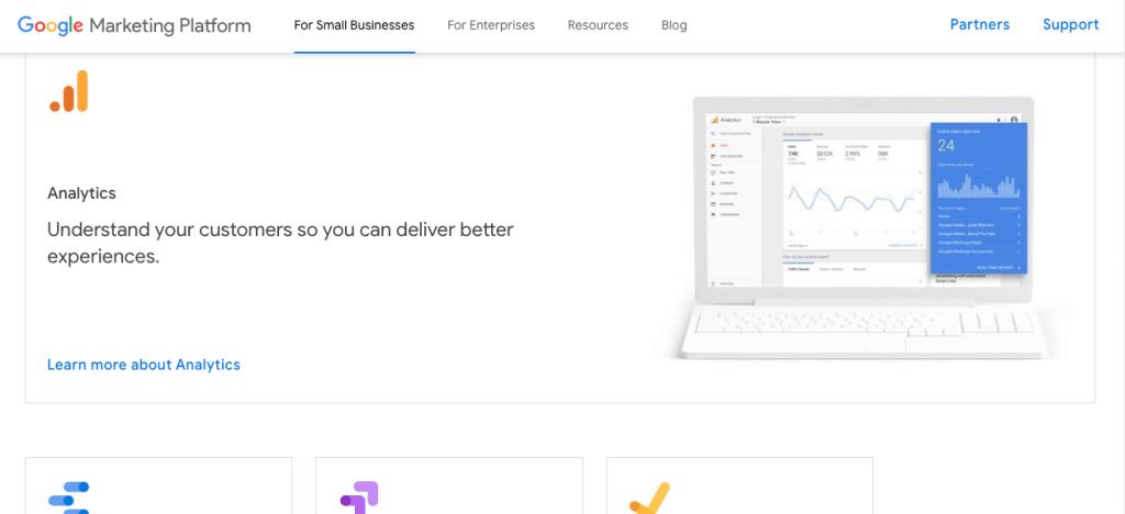 Google Analytics content marketing tools