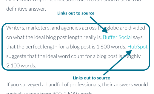 on-page seo outbound links