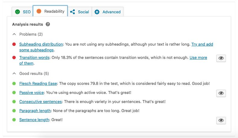 readability yoast plugin